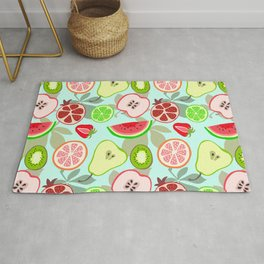 cut fruit Rug