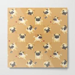Pug Life (Pattern) Metal Print