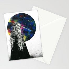 Unicorn girl Galaxy version Stationery Cards