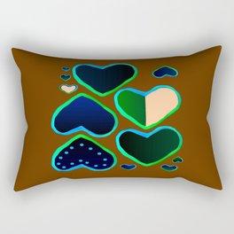 Heart of greenery Rectangular Pillow