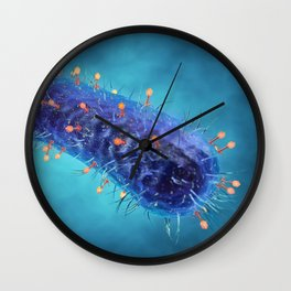 Bacterial viruses Wall Clock
