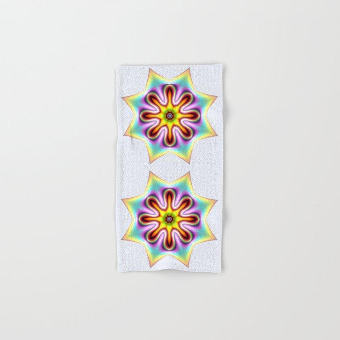 Decorative colourful silky star Hand & Bath Towel