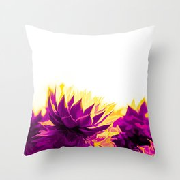Purple and Yellow Houseleeks Throw Pillow