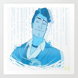 HANDSOME JACK HOLO Art Print