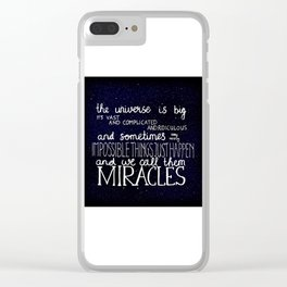 Doctor Who Quote Clear iPhone Case