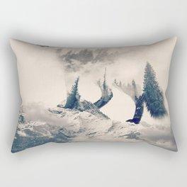 Fox Mountain Walker Rectangular Pillow