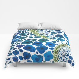 Paths of Color [Turquoise, Blue and Green] Comforters