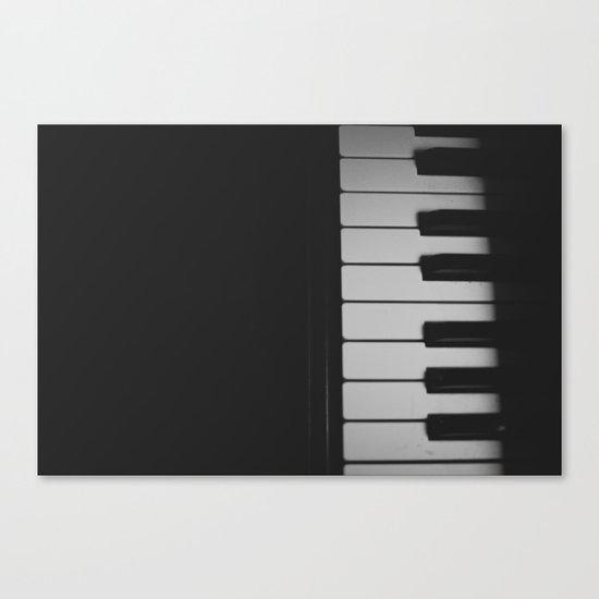 Piano Keys II ANALOG ZINE Canvas Print