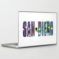 san diego Laptop & iPad Skins featuring San Diego by Tonya Doughty