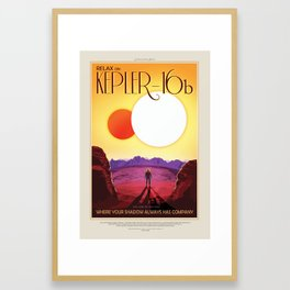 Kepler-16b Framed Art Print
