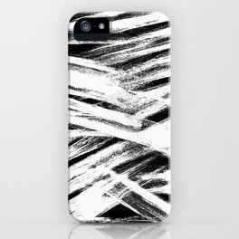 White brush iPhone Case