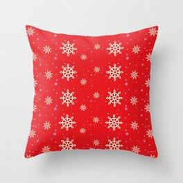xmas snowflakes Throw Pillow