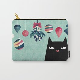 Mistletoe? (Black Cat) Carry-All Pouch