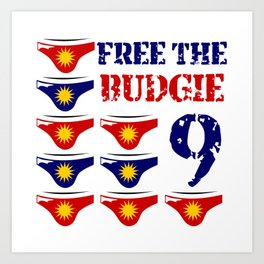 Free The Budgie 9 Art Print