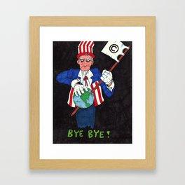 Bye Bye! Framed Art Print