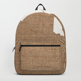Oklahoma is Home - White on Burlap Backpack
