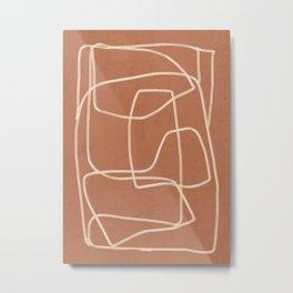 Abstract line art 22 Metal Print