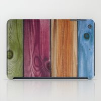 wooden iPad Cases featuring Wooden Rainbow by Nicklas Gustafsson