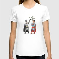 superheros T-shirts featuring Super Rich by Ian Byers