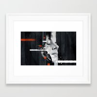 jack white Framed Art Prints featuring Hip Poor Boy by Your Music Design