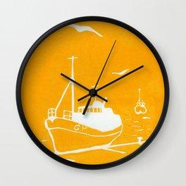 Comrades in Yellow Wall Clock