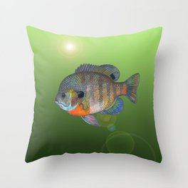 Bluegill Sunfish Throw Pillow