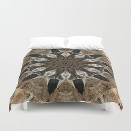 Mandala black Star Duvet Cover
