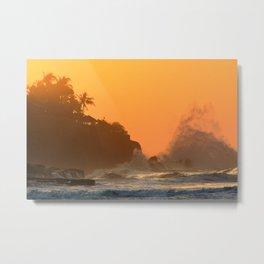 Sunset rocks Metal Print