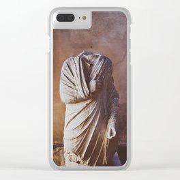 Statue 04 Clear iPhone Case
