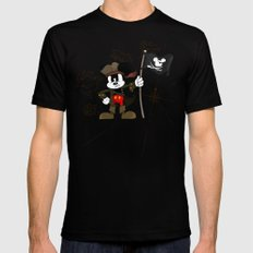Black Ear the Pirate Mens Fitted Tee Black X-LARGE