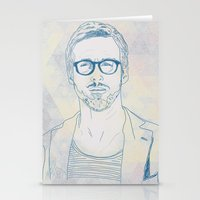 ryan gosling Stationery Cards featuring RYAN by Itxaso Beistegui Illustrations
