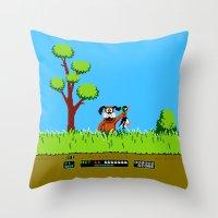 gameboy Throw Pillows featuring Gameboy by Janismarika