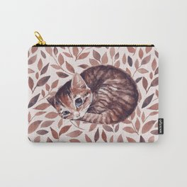 Sleepy cat. Watercolor Carry-All Pouch