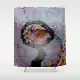 Space Flower Shower Curtain