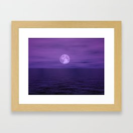 Under A Full Moon Framed Art Print