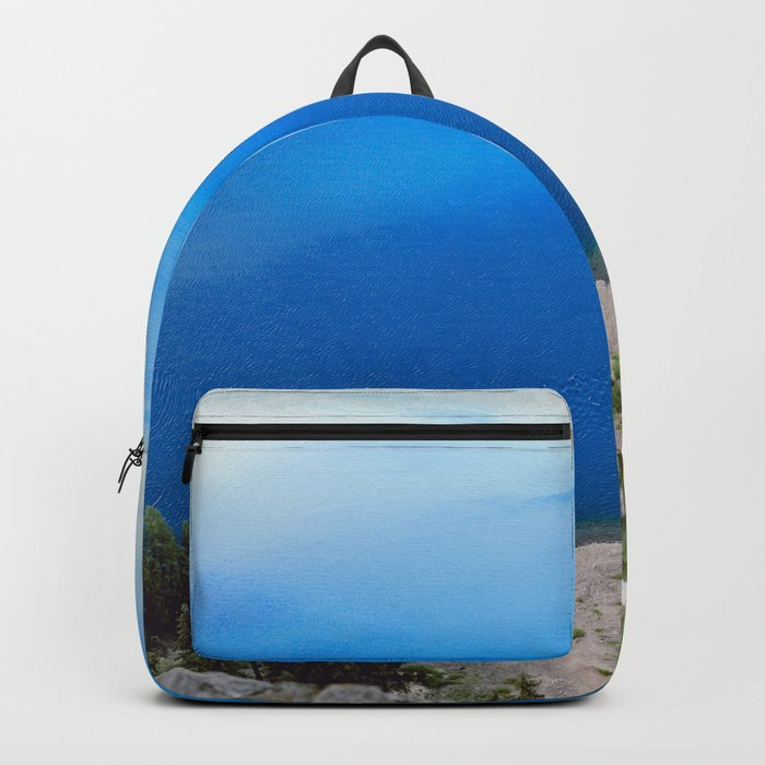 Crater Lake Cloud Reflection Backpack