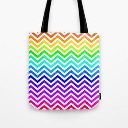 Raibow pattern lines Tote Bag
