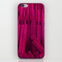 leather iPhone & iPod Skins featuring Leather pattern by Pepita Selles