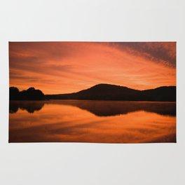 Dawn on Fire: Lac du Saint Sacrement Rug