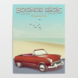 Bognor Regis Sussex travel poster Poster