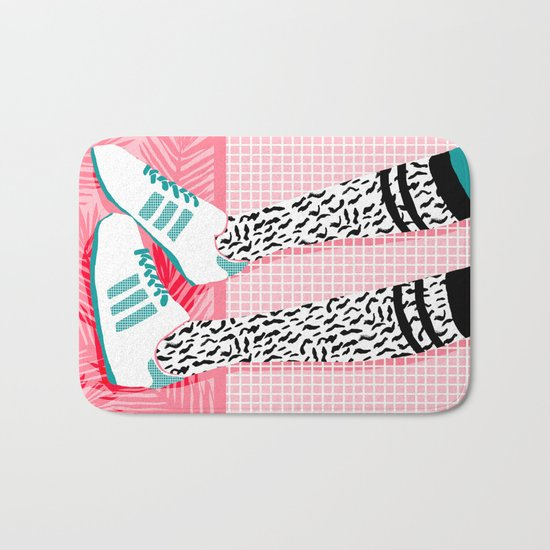 Aiight - sports fashion retro throwback style 1980s neon palm springs socal country club hipster Bath Mat