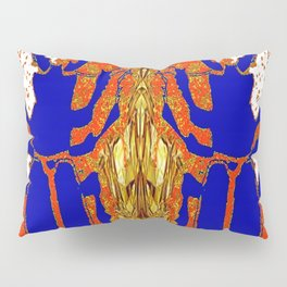 Lapis Blue Beetle on Gold Pillow Sham