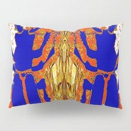 Lapis Blue Beetle on Gold Pillow Sham