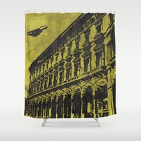 milan Shower Curtains featuring Milan 1 by Anand Brai