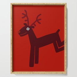 Reindeer-Red Serving Tray
