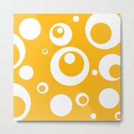 Circles Dots Bubbles :: Mango Metal Print