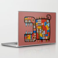 hippo Laptop & iPad Skins featuring Dog hippo by Rudolf Brancovsky