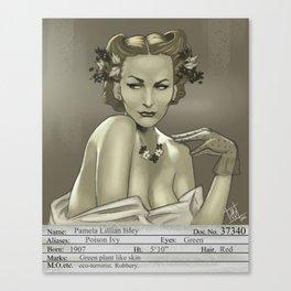 1930s Poison Ivy Mugshot Canvas Print