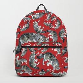 Totem Hokkaido grey wolf (Red) Backpack