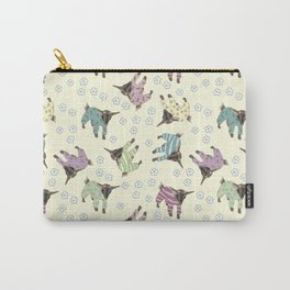 Pajama'd Baby Goats - Yellow Carry-All Pouch